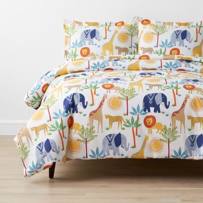 Company Kids™ Jungle Animals Organic Cotton Percale Duvet Cover Set