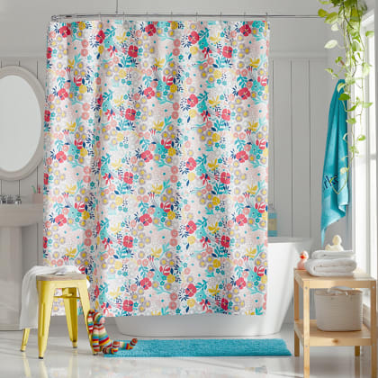Company Kids™ Floral Organic Cotton Percale Shower Curtain