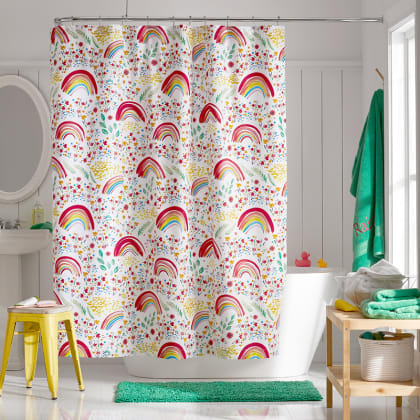 Company Kids™ Rainbow Organic Cotton Percale Shower Curtain
