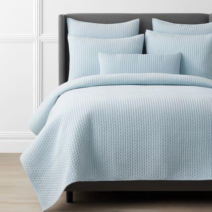 Legends Luxury™ Paloma Cotton Velvet Quilt - Sky Blue