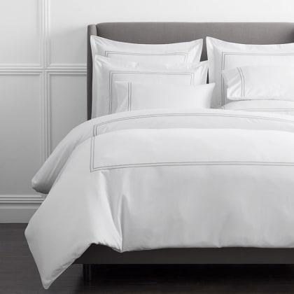 Legends Hotel™ Dorset Stripe Egyptian Cotton Sateen Duvet Cover - Gray