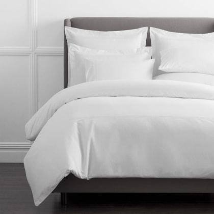 Legends Hotel™ Dorset Stripe Egyptian Cotton Sateen Duvet Cover - White