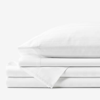 Company Cotton™ Dobby Stripe Wrinkle-Free Sateen Sheet Set