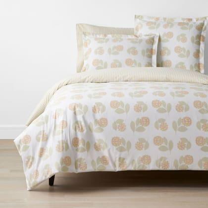 Company Cotton™ Ella Hydrangea Percale Duvet Cover - Yellow