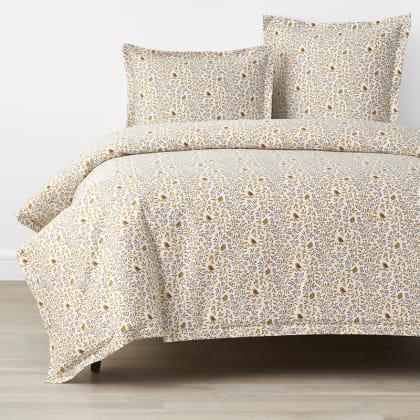 Company Cotton™ Alexandria Bird Branch Wrinkle Free Sateen Duvet Cover - Orange