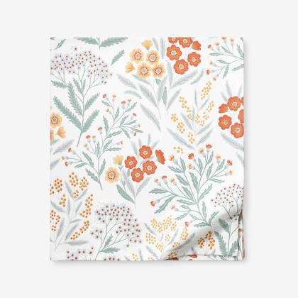 Legends Luxury™ Floral Velvet Cotton Flannel Flat Sheet