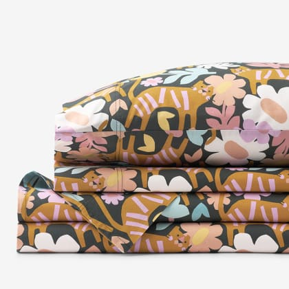Company Organic Cotton™ Floral Feline Percale Sheet Set