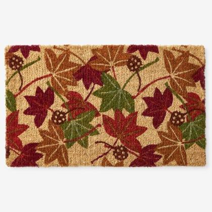 Autumn Coir Door Mat - Leaves