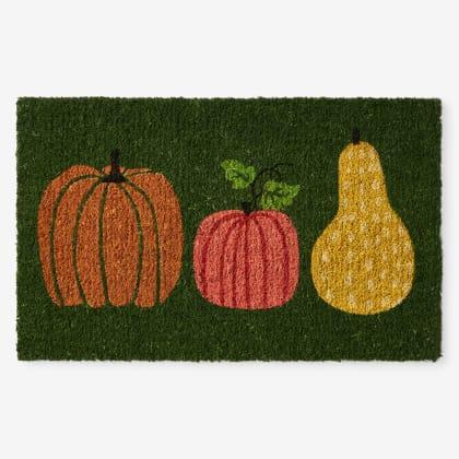 Autumn Coir Door Mat - Pumpkins