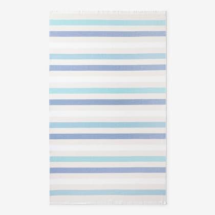 Hammam Cotton Beach Towel - Blue Stripe