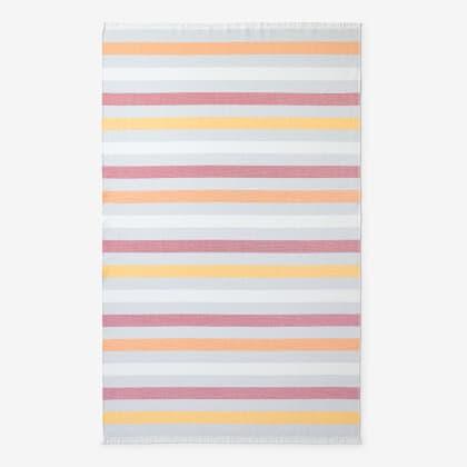 Hammam Cotton Beach Towel - Red Stripe