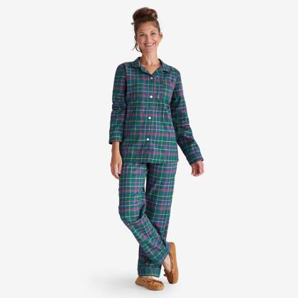Company Cotton™ Family Flannel Womens Classic Pajama Set