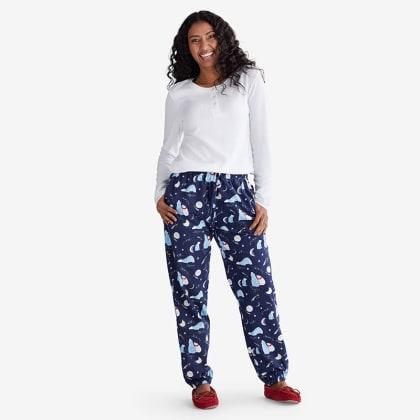 Company Cotton ™ Family Flannel Womens Henley Pajama Set