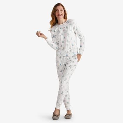 Mother & Daughter Cozy Sleepwear – Womens Pajama Set - Birds