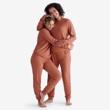 Womens Cozy Sweater Knit Pajama Set