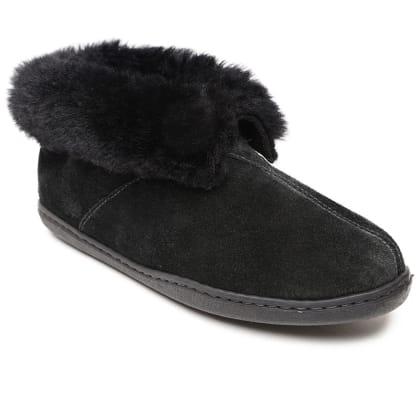 Minnetonka® Womens Sheepskin Ankle Boot Slipper