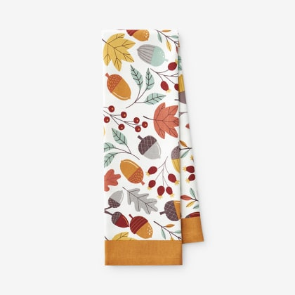 Fall Tea Towel - Acorn