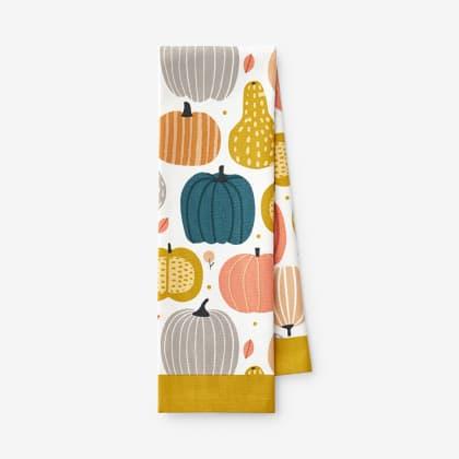 Fall Tea Towel - Pumpkin