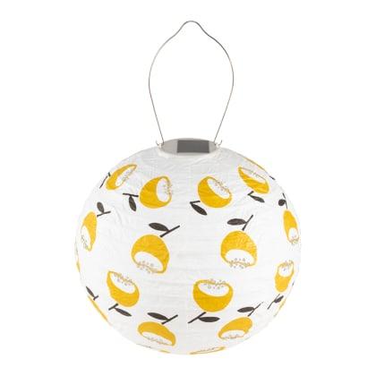 Soji Stella Printed Solar Outdoor Lantern - Lemon