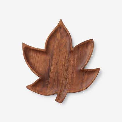 Fall Wood Platters - Leaf