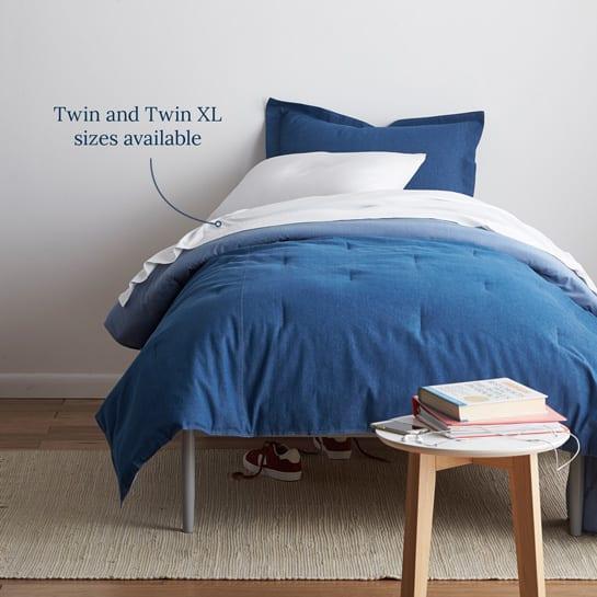 Twin XL Bedding in Denim Cotton Down Alternative Comforter