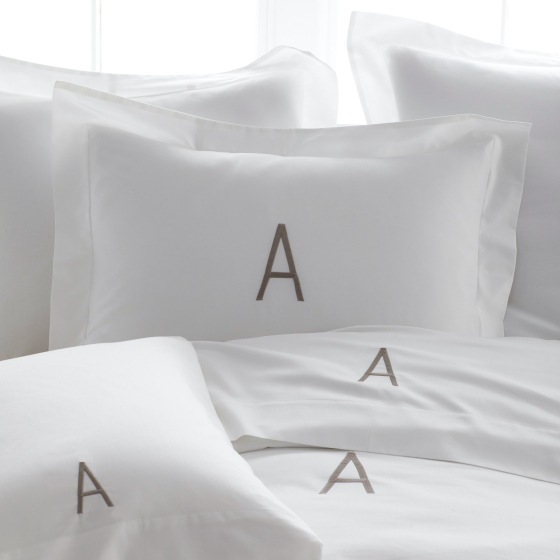 Monogrammed Sheets and Bedding