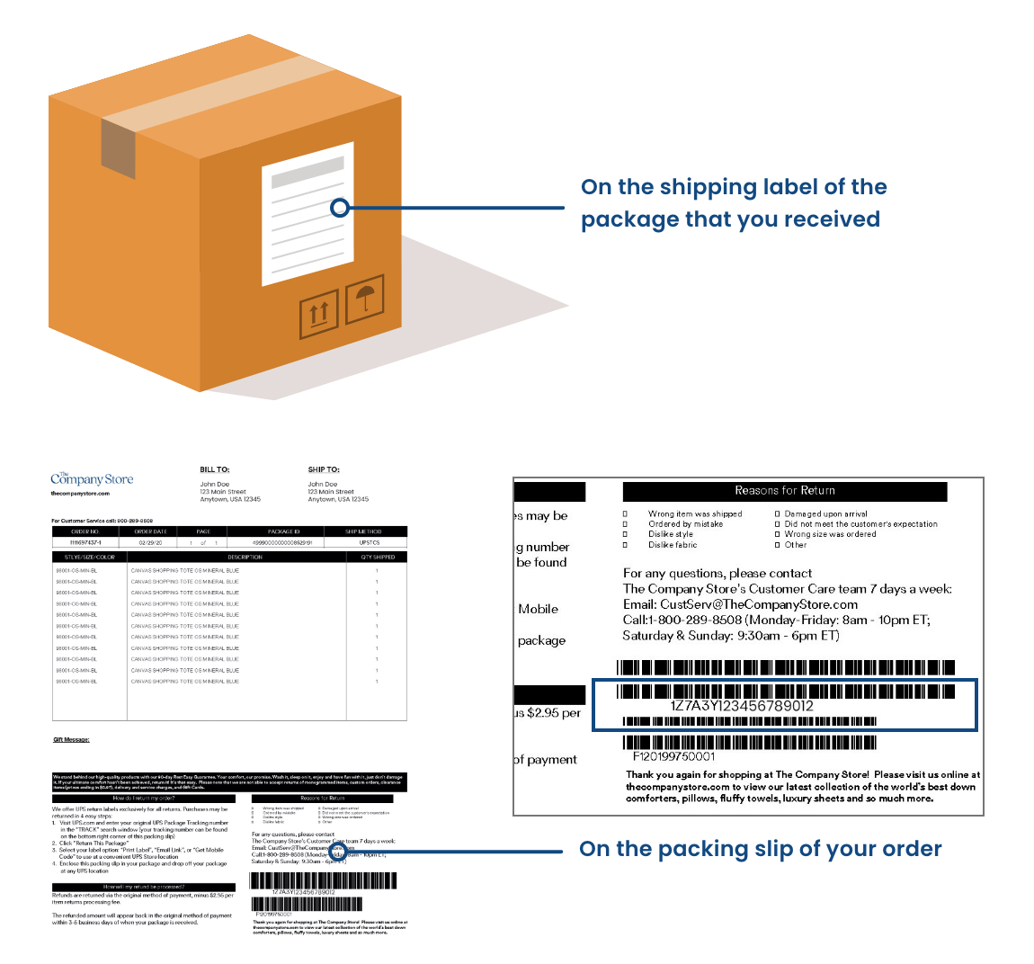 UPS Tracking Number