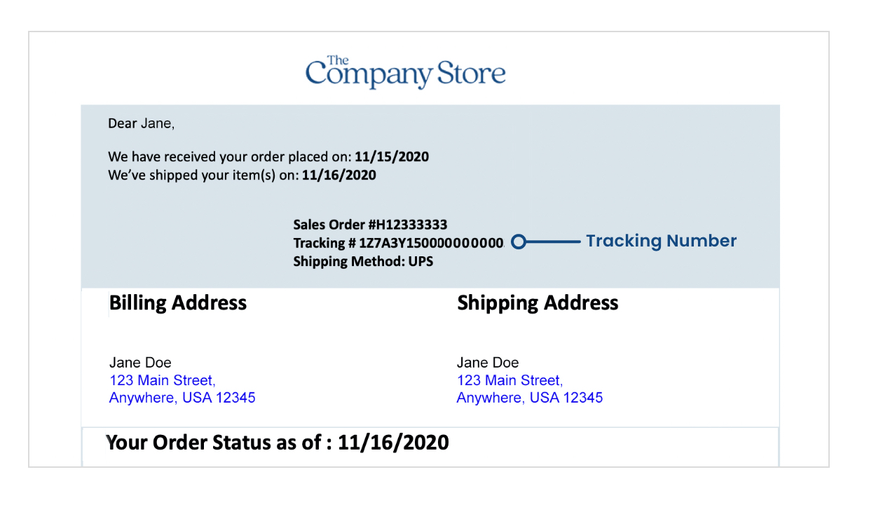 Shipping Confirmation Email