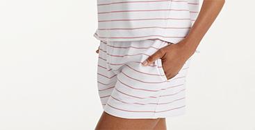 Legends Luxury™ Stripe Yarn-Dyed Pima Cotton Shorts Set