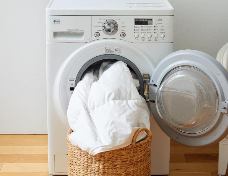 comforter in dryer