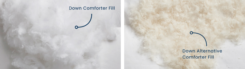 Comforter fill differences