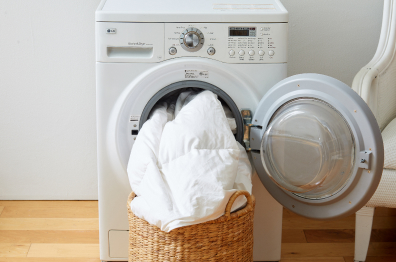 comforter in washer