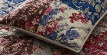 Ophelia Handcrafted Cotton Quilt & Shams