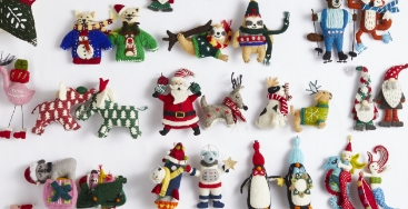 Holiday Felt Ornaments